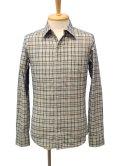 【50%OFF!!SALE!!】PARANOID(パラノイド) リングドットボタン チェックシャツ LT.GRY