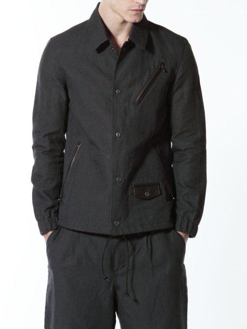 """他の写真3: ISAMU KATAYAMA BACKLASH(イサムカタヤマ バックラッシュ) """"BLACK REVOLUTION"""" ラミー+ホースレザー コーチジャケット BLK"""