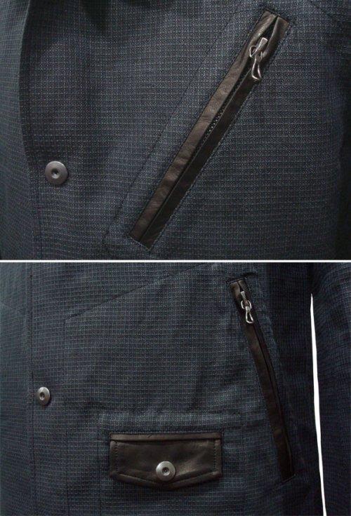 """他の写真2: ISAMU KATAYAMA BACKLASH(イサムカタヤマ バックラッシュ) """"BLACK REVOLUTION"""" ラミー+ホースレザー コーチジャケット BLK"""