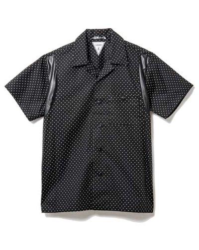 画像1: 【50%OFF!!SALE!!】CHORD NUMBER EIGHT(コードナンバーエイト) ピンドット ボウリングシャツ BLK