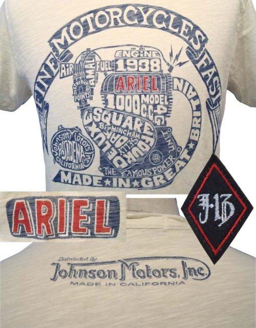 他の写真2: 【50%OFF!!SALE!!】JOHNSON MOTORS(ジョンソンモータース) ARIEL ENGINE S/S プリントTシャツ WHT