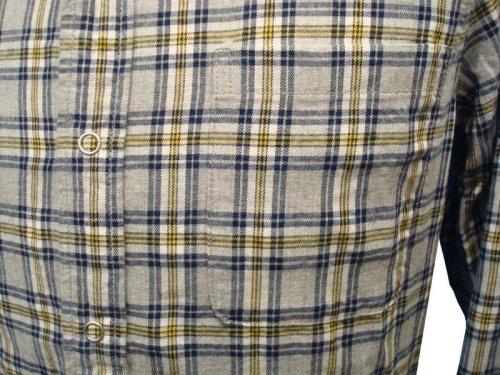 他の写真2: 【50%OFF!!SALE!!】PARANOID(パラノイド) リングドットボタン チェックシャツ LT.GRY
