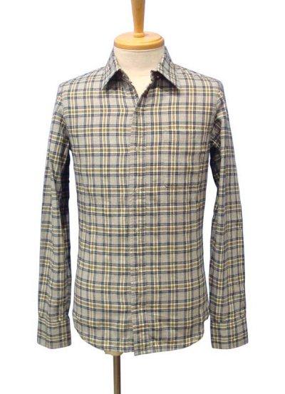 画像1: 【50%OFF!!SALE!!】PARANOID(パラノイド) リングドットボタン チェックシャツ LT.GRY