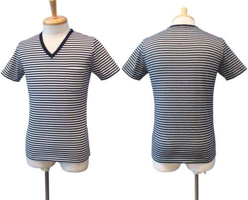 他の写真1: 【50%OFF!!SALE!!】Magine(マージン) ボーダー Vネック Tシャツ