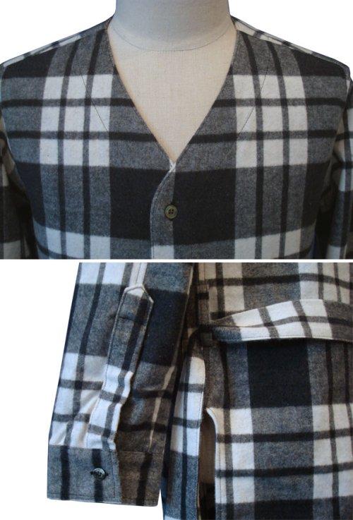 他の写真2: 【50%OFF!!SALE!!】Magine(マージン) コットンシャギーチェック ローブシャツ BLK