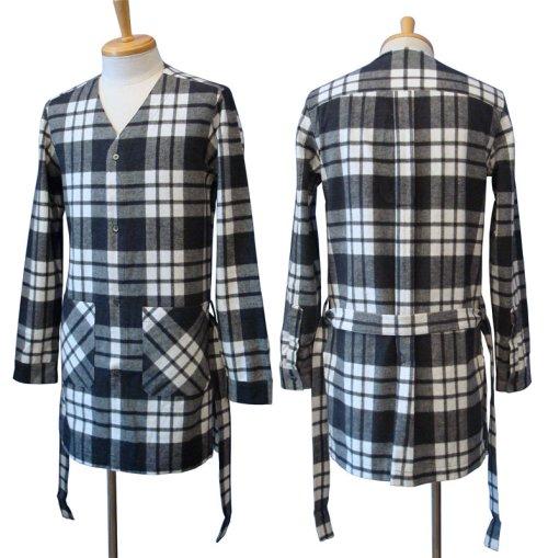 他の写真1: 【50%OFF!!SALE!!】Magine(マージン) コットンシャギーチェック ローブシャツ BLK