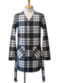 【50%OFF!!SALE!!】Magine(マージン) コットンシャギーチェック ローブシャツ BLK