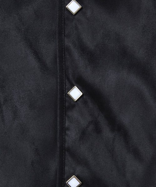 他の写真3: 【50%OFF!!SALE!!】CHORD NUMBER EIGHT(コードナンバーエイト) フェイクスウェード ノーカラーウエスタンシャツ BLK