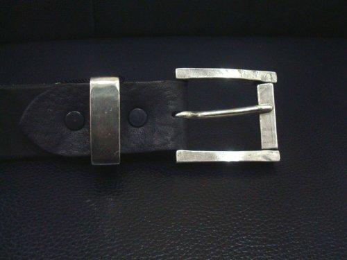 他の写真1: ISAMU KATAYAMA BACKLASH(イサムカタヤマ バックラッシュ) ダブルショルダー製品染め 35mm ベルト BLK