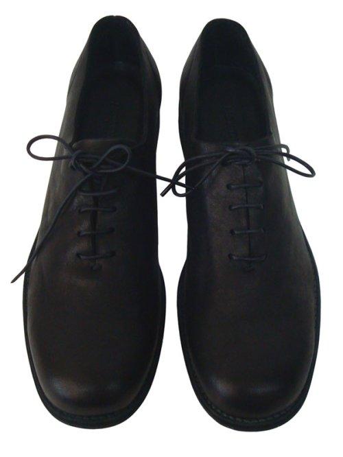 他の写真1: ISAMU KATAYAMA BACKLASH(イサムカタヤマ バックラッシュ) ジャパンダブルショルダー製品染め レザーソール短靴 BLK
