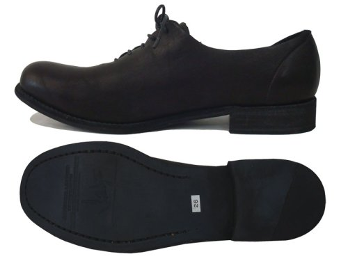 他の写真2: ISAMU KATAYAMA BACKLASH(イサムカタヤマ バックラッシュ) ジャパンダブルショルダー製品染め レザーソール短靴 BLK