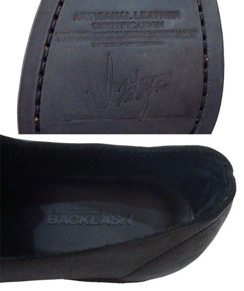 他の写真3: ISAMU KATAYAMA BACKLASH(イサムカタヤマ バックラッシュ) ジャパンダブルショルダー製品染め レザーソール短靴 BLK
