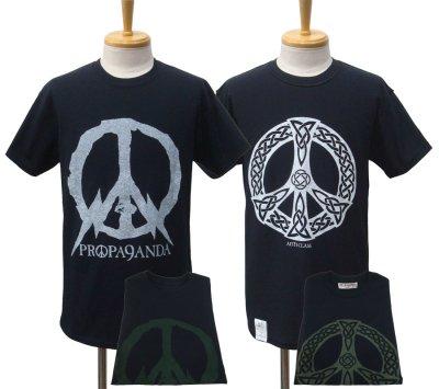 画像1: PROPA9ANDA プロパガンダ × ANTI CLASS アンチクラス ANTI & PEACE リバーシブルTEE