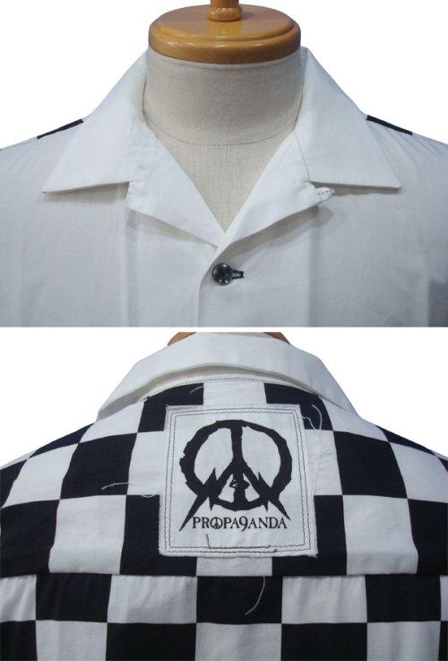 他の写真2: PROPA9ANDA プロパガンダ VICTOR CHECKER S/Sシャツ WHT