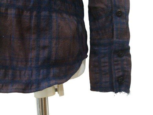 他の写真3: STRUM ストラム コットンウール縮絨チェックシャツ BRN