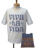 "Burnout バーンアウト ""VIVA LA VIDA"" ワイド ショートスリーブ Tシャツ"