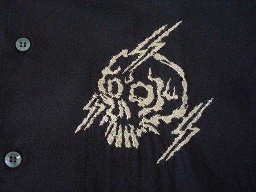 他の写真2: PROPA9ANDA プロパガンダ RAIKIRI 髑髏 オープンカラーシャツ BLK