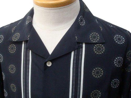 他の写真2: EGO TRIPPING エゴトリッピング 50's パネル アロハシャツ BLK