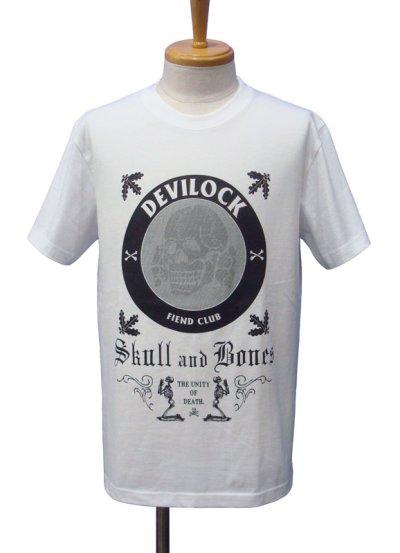 画像1: DEVILOCK デビロック SKULL&BONE Tシャツ