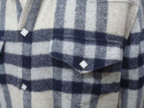 他の写真2: STRUM ストラム アンゴラウール シャギー起毛 チェックシャツ WHT