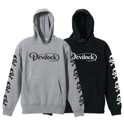 画像1: DEVILOCK デビロック ダイムラー&スカル スウェットパーカー