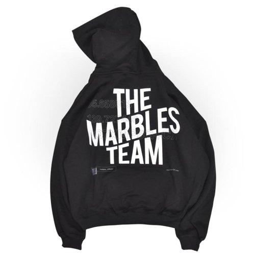 """他の写真1: Marbles マーブルズ """"THE MARBLES TEAM"""" 16oz ビッグシルエットパーカー BLK"""
