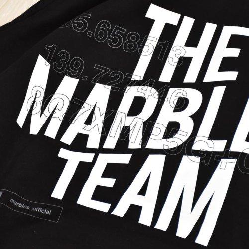 """他の写真3: Marbles マーブルズ """"THE MARBLES TEAM"""" 16oz ビッグシルエットパーカー BLK"""