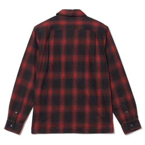 他の写真2: CRIMIE クライミー オンブレチェックネルシャツ RED
