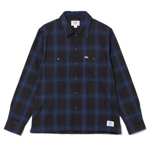 他の写真1: CRIMIE クライミー オンブレチェックネルシャツ BLU