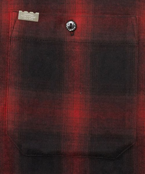 他の写真3: CRIMIE クライミー オンブレチェックネルシャツ RED