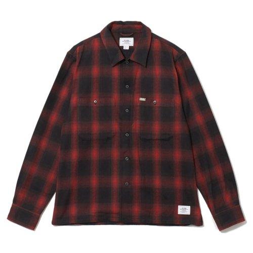 他の写真1: CRIMIE クライミー オンブレチェックネルシャツ RED
