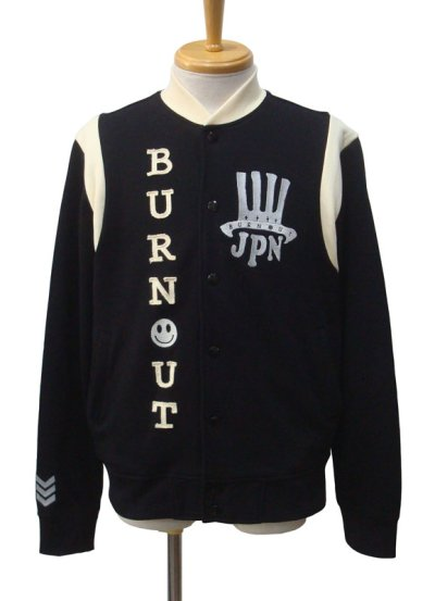 画像1: Burnout バーンアウト スウェットスタジアムジャンパー
