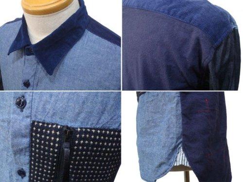 他の写真2: Burnout バーンアウト 刺し子ポケット クレイジーシャツ