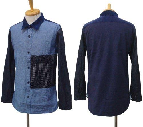 他の写真1: Burnout バーンアウト 刺し子ポケット クレイジーシャツ