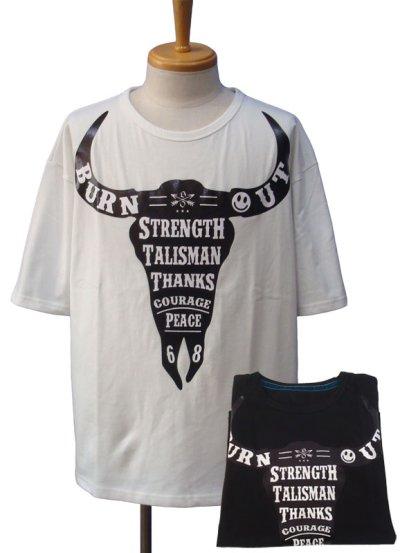画像1: Burnout バーンアウト バッファロー Tシャツ