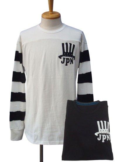 画像1: Burnout バーンアウト ハット刺繍 フットボール L/S Tシャツ