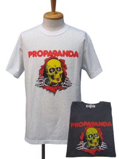 画像1: PROPA9ANDA プロパガンダ × MAD MOUSE COMIC マッドマウスコミック PEKE-PERO SKULL Tシャツ
