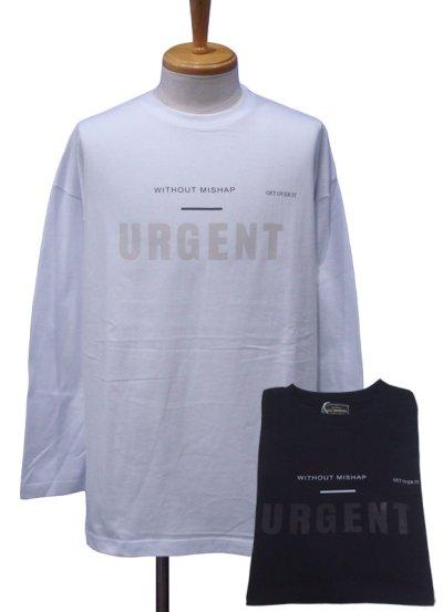 画像1: EGO TRIPPING エゴトリッピング URGENT ロングスリーブ Tシャツ