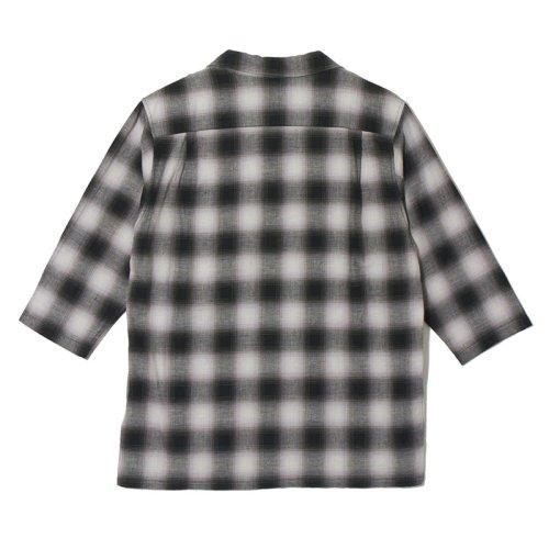 他の写真2: CRIMIE クライミー オンブレチェック七分袖シャツ BLK