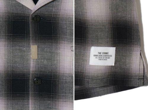 他の写真3: CRIMIE クライミー オンブレチェック七分袖シャツ BLK