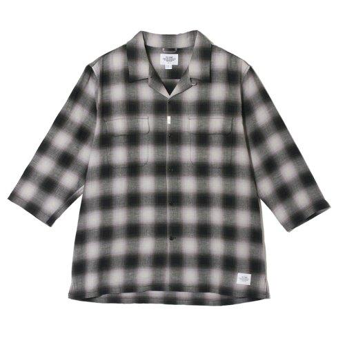 他の写真1: CRIMIE クライミー オンブレチェック七分袖シャツ BLK