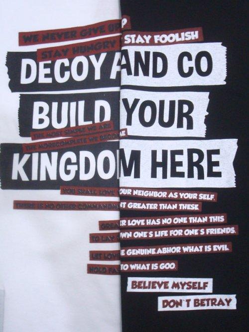 他の写真2: DECOY&CO. デコイアンドシーオー Your Kingdom Tシャツ