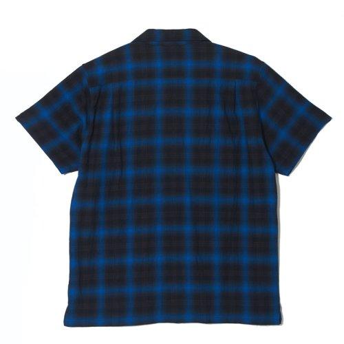 他の写真2: CRIMIE クライミー ヘリンボンオンブレチェック 半袖シャツ BLU