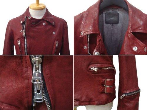 """他の写真2: ISAMU KATAYAMA BACKLASH イサムカタヤマ バックラッシュ """"GLOW"""" ジャパンカーフ 製品洗い加工 Wライダース RED"""