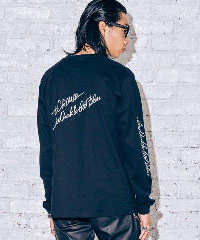 画像2: CRIMIE クライミー スカルレタリングロゴ ロングスリーブ Tシャツ BLK