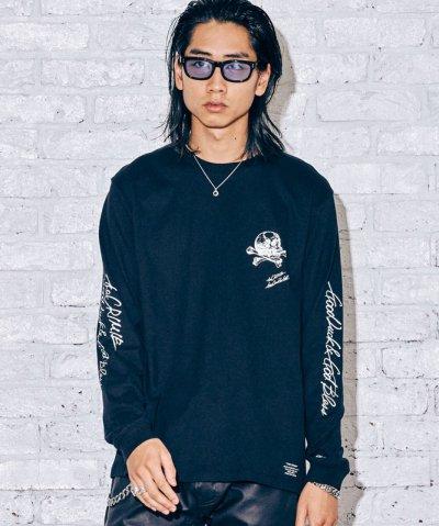 画像1: CRIMIE クライミー スカルレタリングロゴ ロングスリーブ Tシャツ BLK