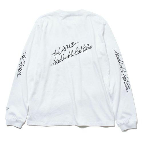 他の写真3: CRIMIE クライミー スカルレタリングロゴ ロングスリーブ Tシャツ WHT