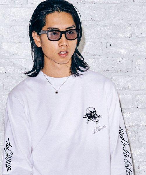 他の写真1: CRIMIE クライミー スカルレタリングロゴ ロングスリーブ Tシャツ WHT