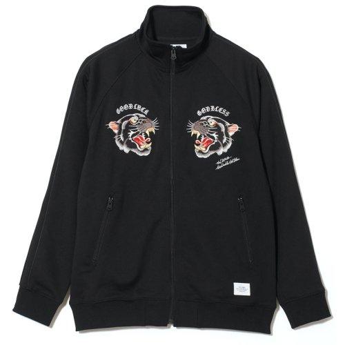 他の写真1: CRIMIE クライミー パンサー刺繍 ジャージトラックジャケット BLK